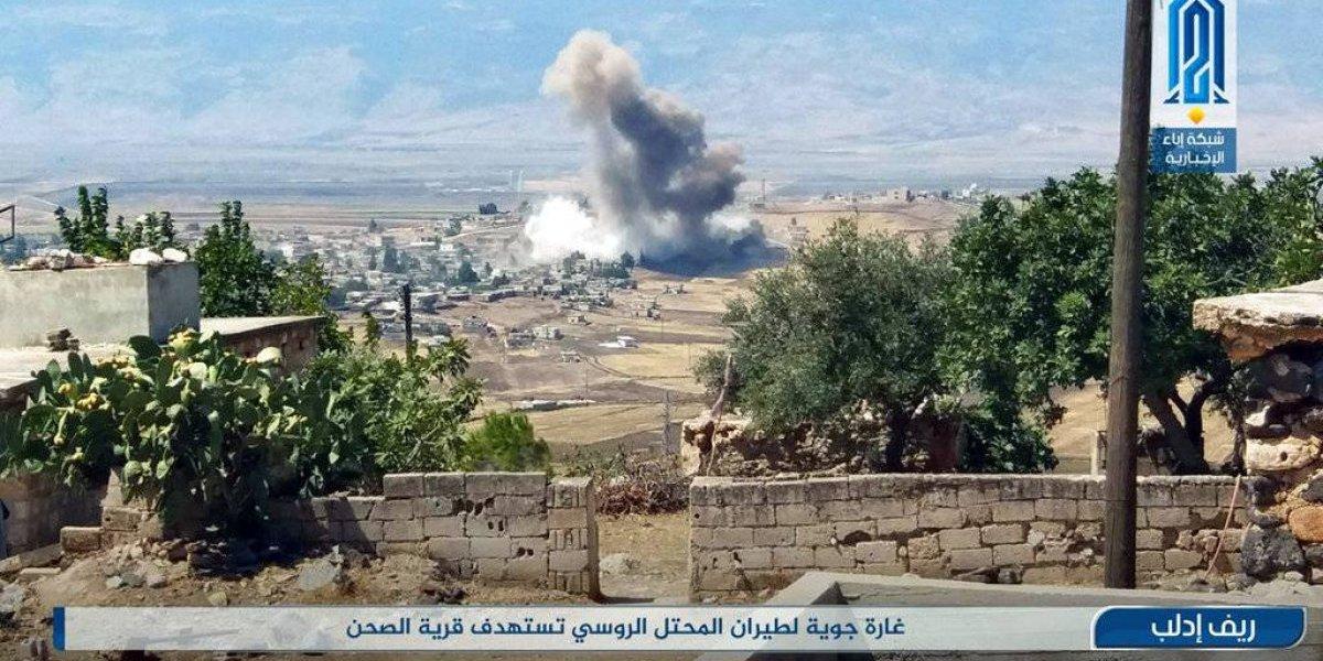 Rusia asegura que bombardeó bastión rebelde en norte de Siria
