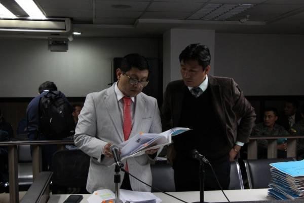 audiencia de formulación de cargos contra de Vicente N., Gilmar A., Luis D. y Wilson R., investigados por la muerte de Froilán Jiménez.