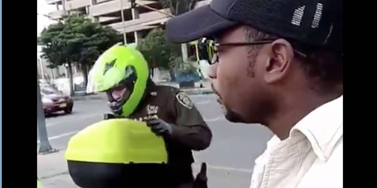 Intentó hacer el reto de insultar a los Policías en Bogotá y este fue el resultado