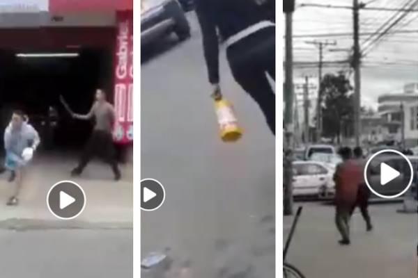 batalla campal entre ladrones y vecinos en el norte de Bogotá