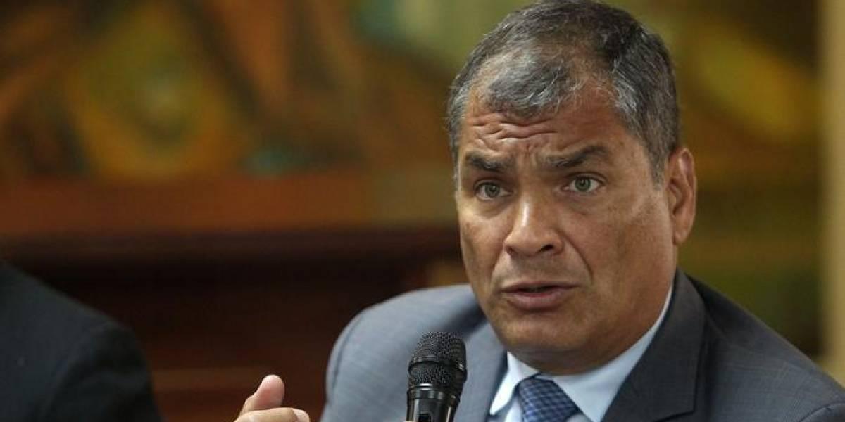 Rafael Correa acusó al Gobierno ecuatoriano de tener un pacto con Chevron