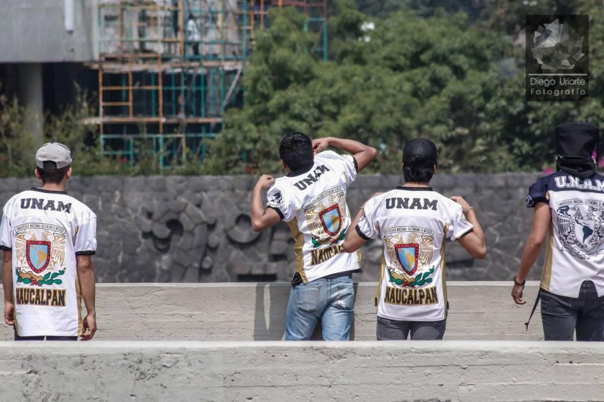 El pasado lunes 3 de septiembre un grupo porril rompió la manifestación de estudiantes de CCH Azcapotzalco Foto: Diego Uriarte