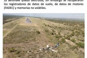 Accidente aereo en Durango.