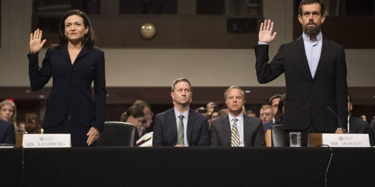 VIDEO. Ejecutivos de Facebook y Twitter comparecen ante el Senado