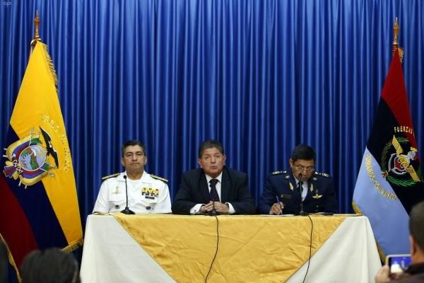 Rueda de prensa en el Ministerio de Defensa sobre la llegada del Avión Orion P-3.