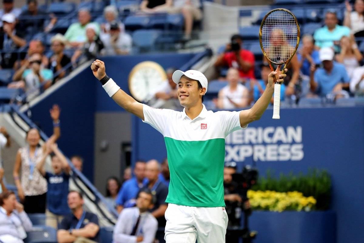 Nishikori celebra su triunfo.