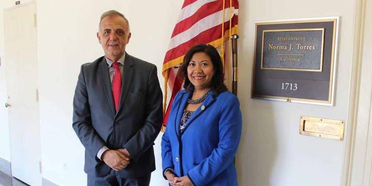 Norma Torres se reúne en Washington con el jefe de CICIG Iván Velásquez