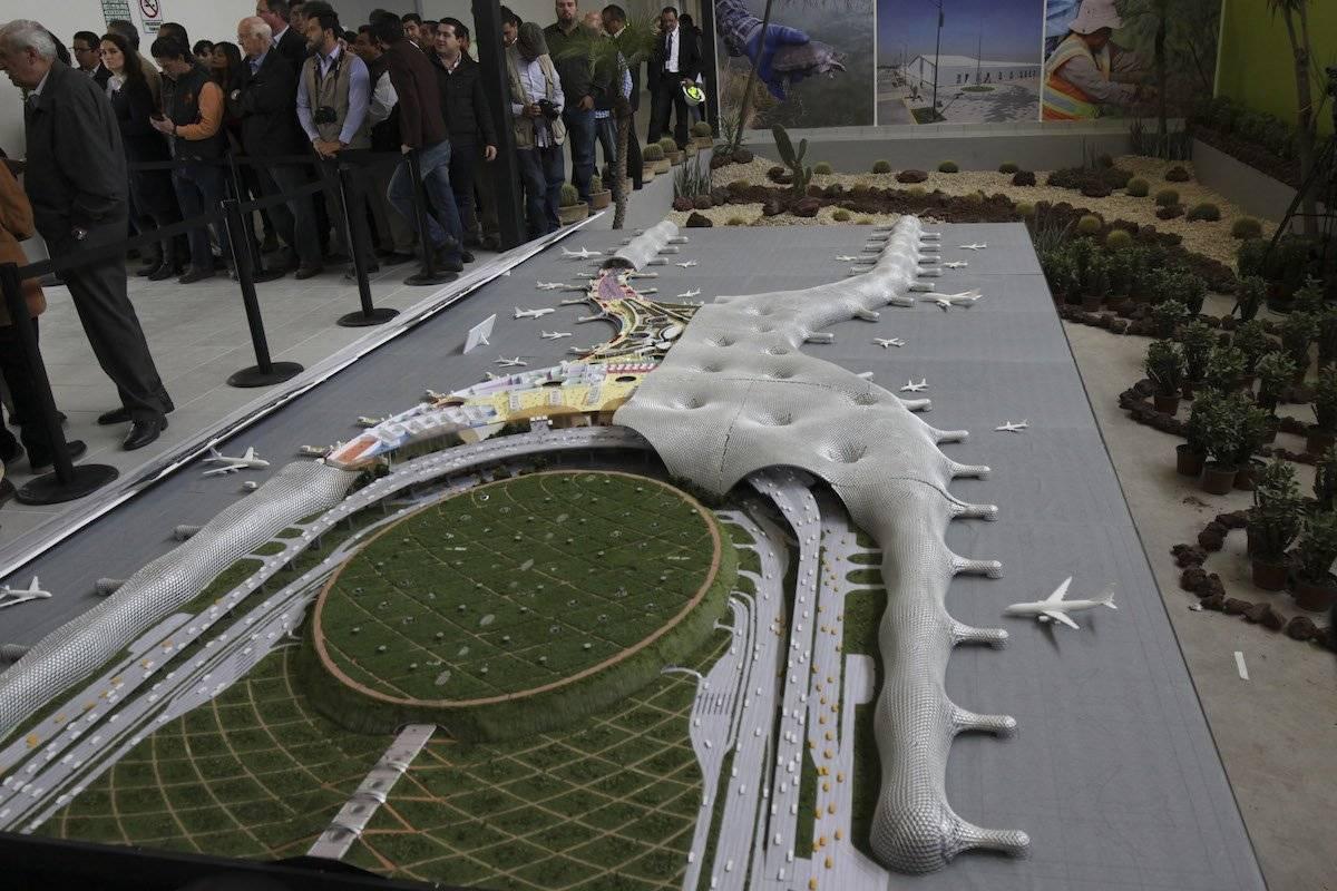 Maqueta oficial del Nuevo Aeropuerto de la Ciudad de México Foto: Cuartoscuro