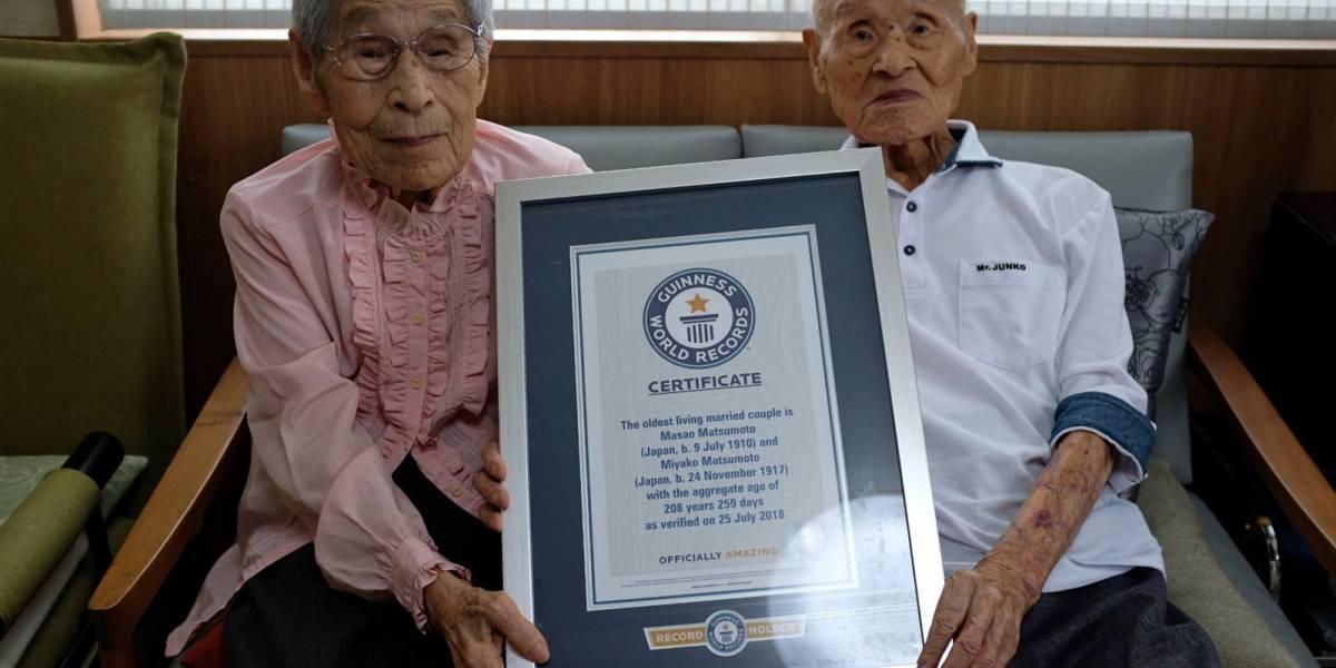 Esta pareja japonesa recibió el Récord Guinness por ser el matrimonio más duradero del mundo