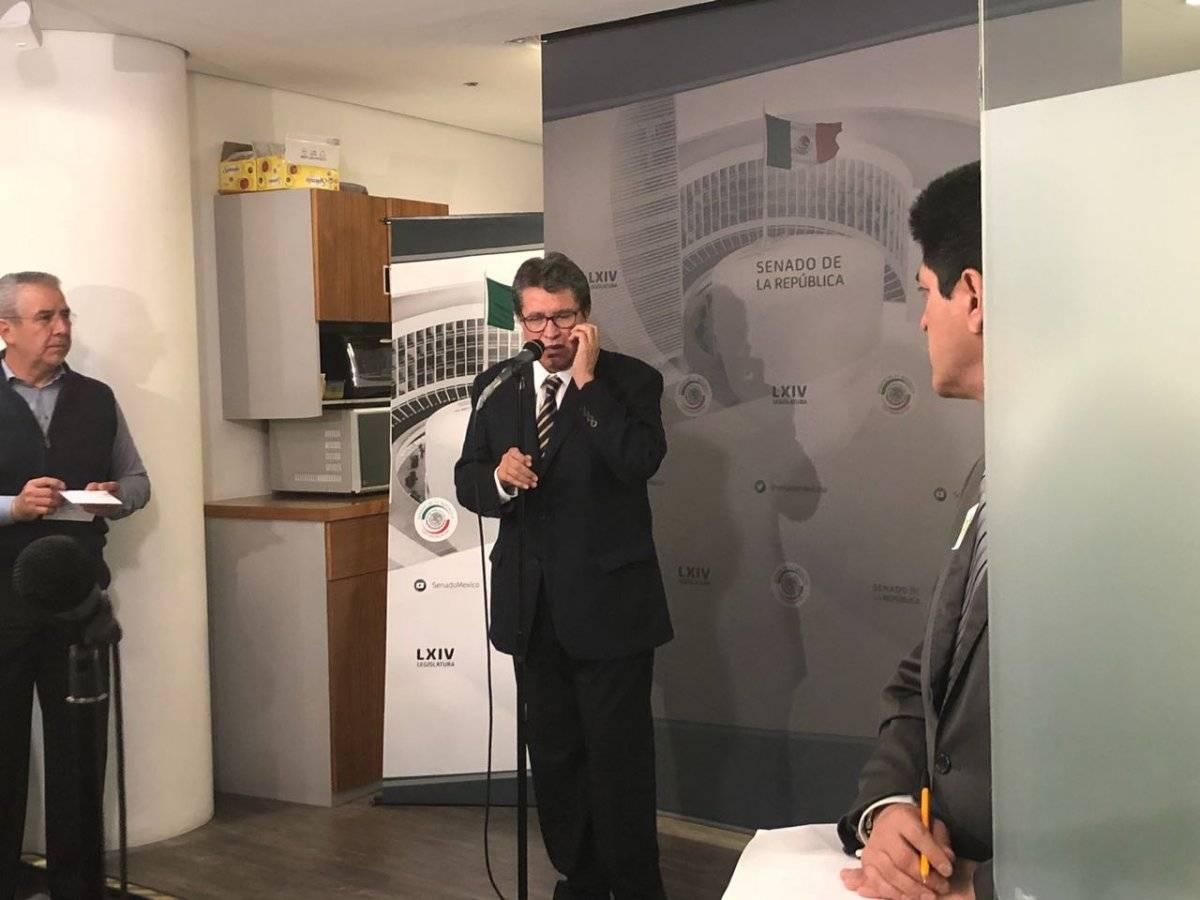 Ricardo Monreal en rueda de prensa. Foto: Especial