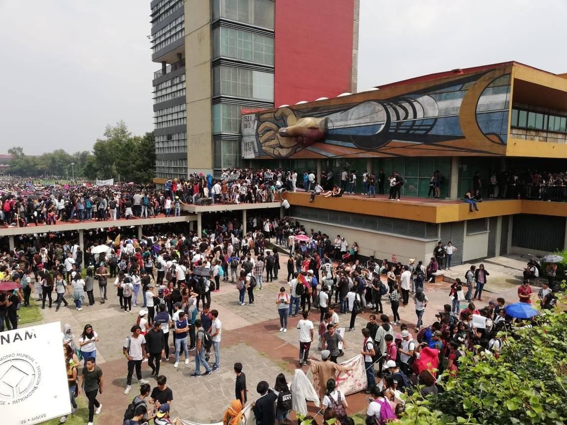 Se unieron estudiantes de la UNAM, IPN, UAM. Foto: Nicolás Corte | Publimetro