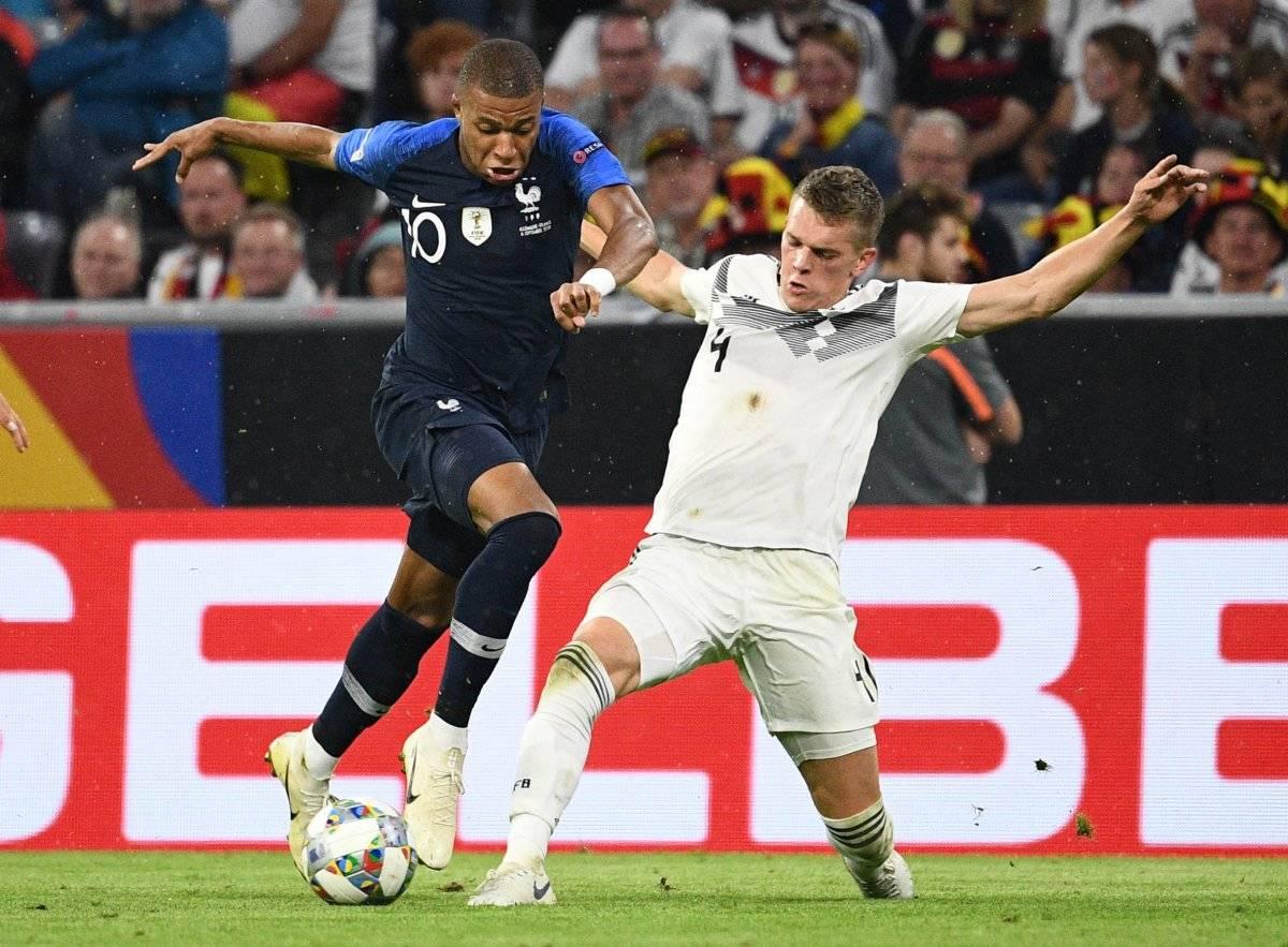 Mbappé estuvo bien marcado por la defensa alemana