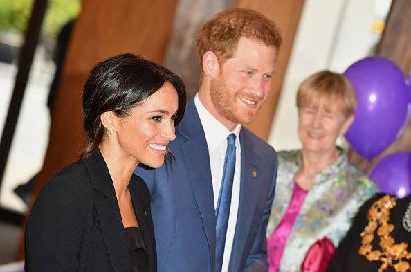 Meghan y Harry Durante la entrega de los premios Well Child Getty Images