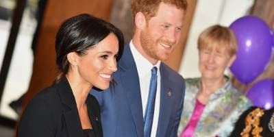 Meghan y Harry Durante la entrega de los premios Well Child