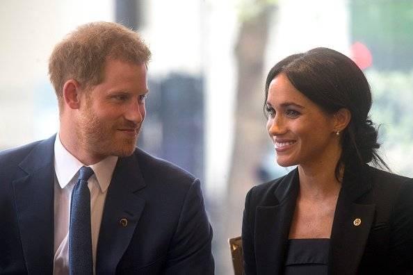 Los Duques Meghan y Harry durante la entrega de los premios Well Child Getty Images