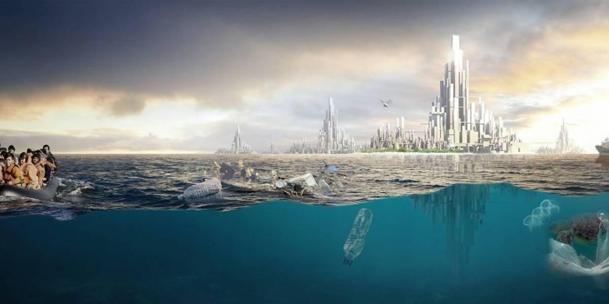 Proponen nueva nación nacida del... plástico