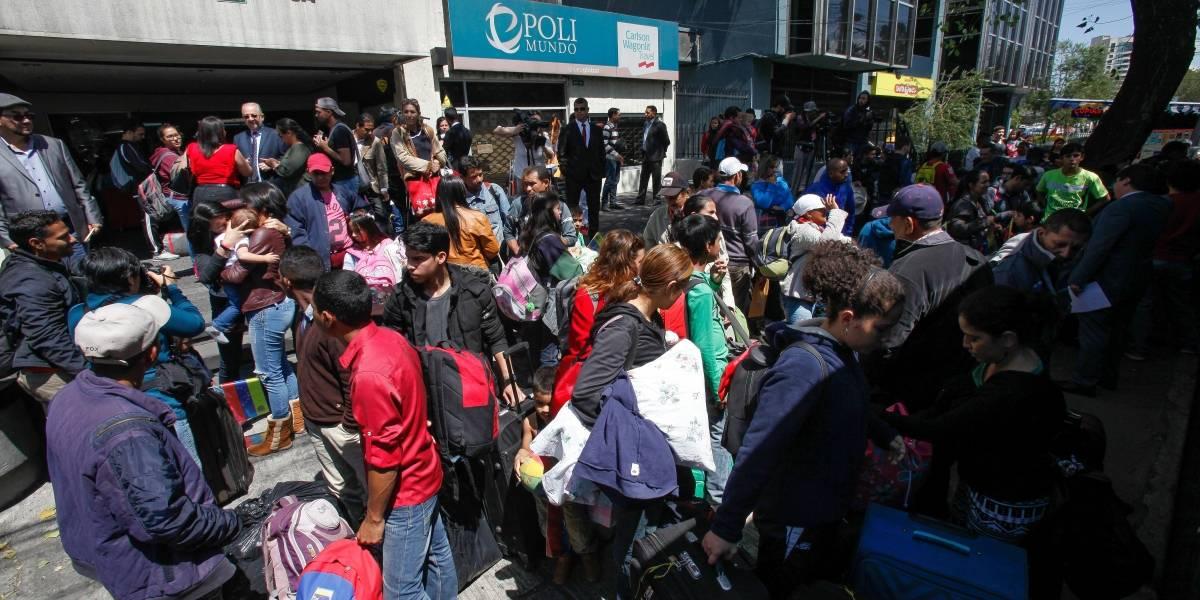 Un grupo de venezolanos regresó a su país desde Ecuador