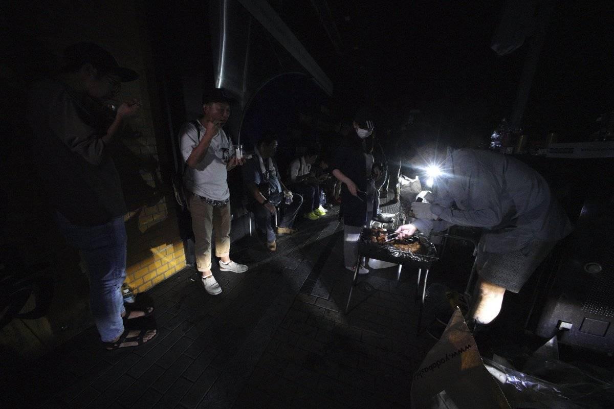 terremoto Japón corte de luz