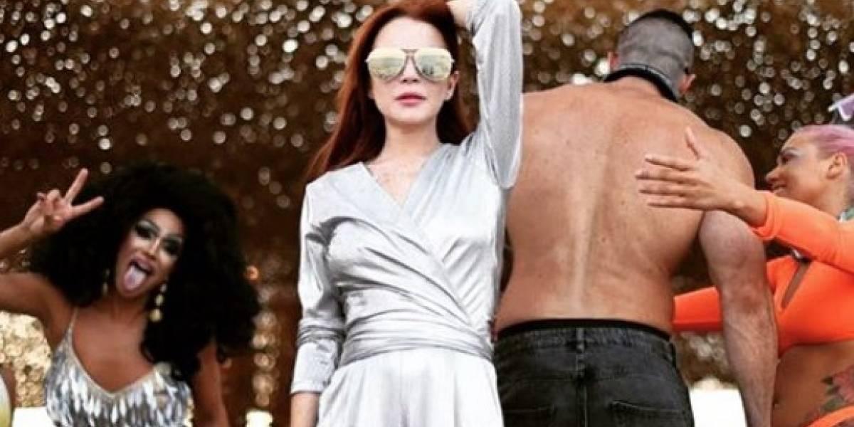 #DoTheLilo: Lindsay Lohan y su extraño baile que se volvió un nuevo reto viral