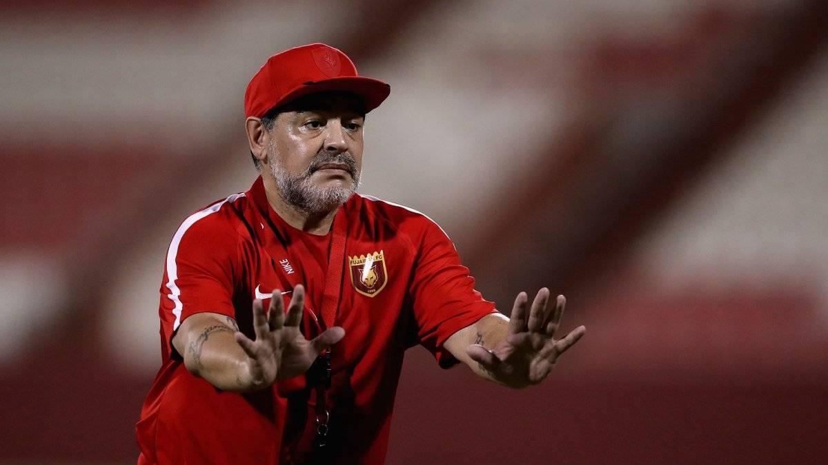 El Fujairah fue el último equipo que dirigió Maradona