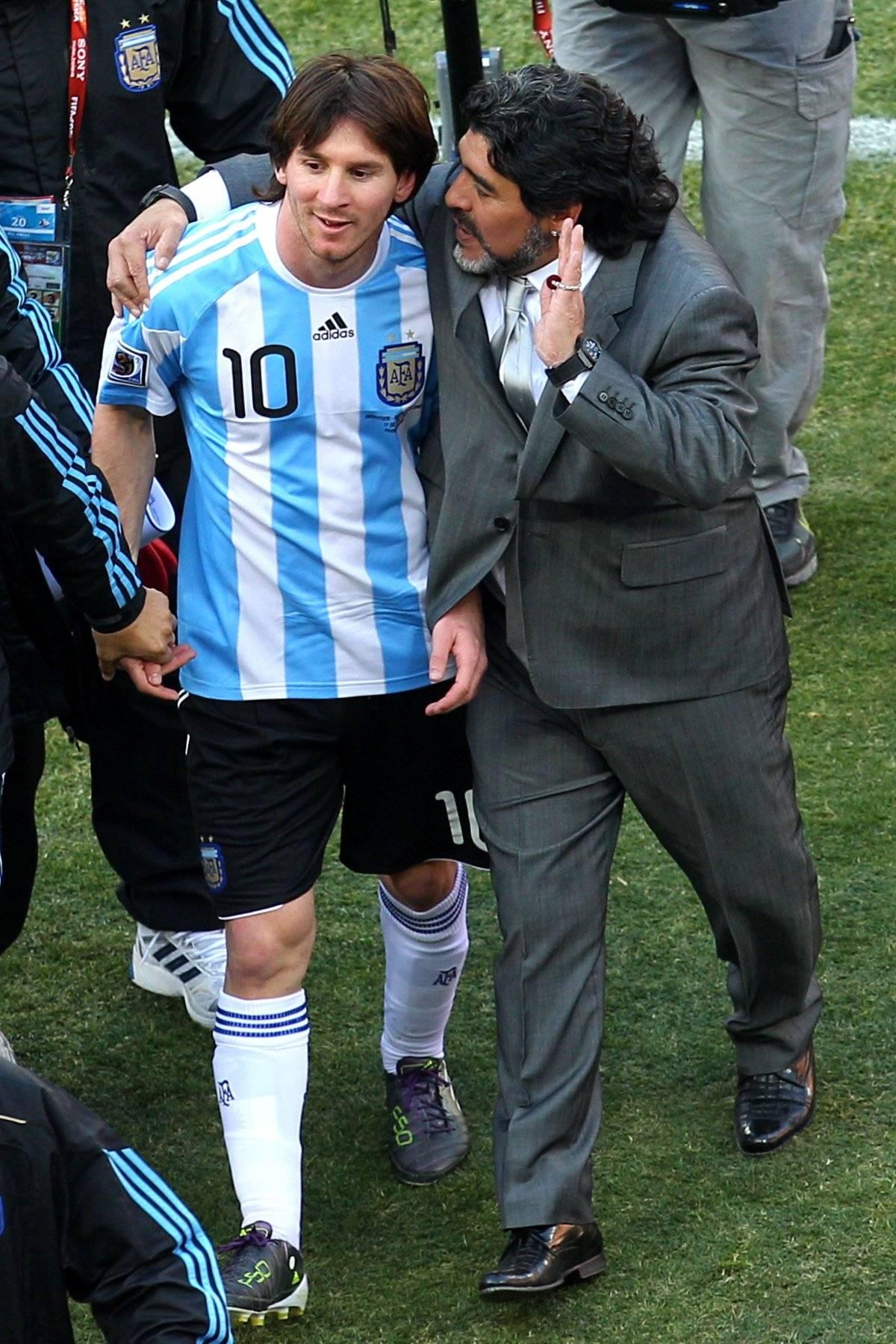 Maradona dirigió a la selección de Argentina de 2008 a 2010 Getty images