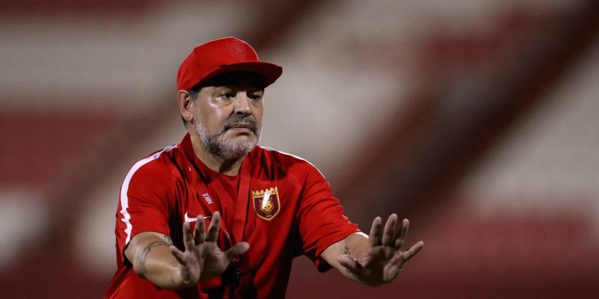 El show del DT Maradona se va a México: fichó en club de Segunda División