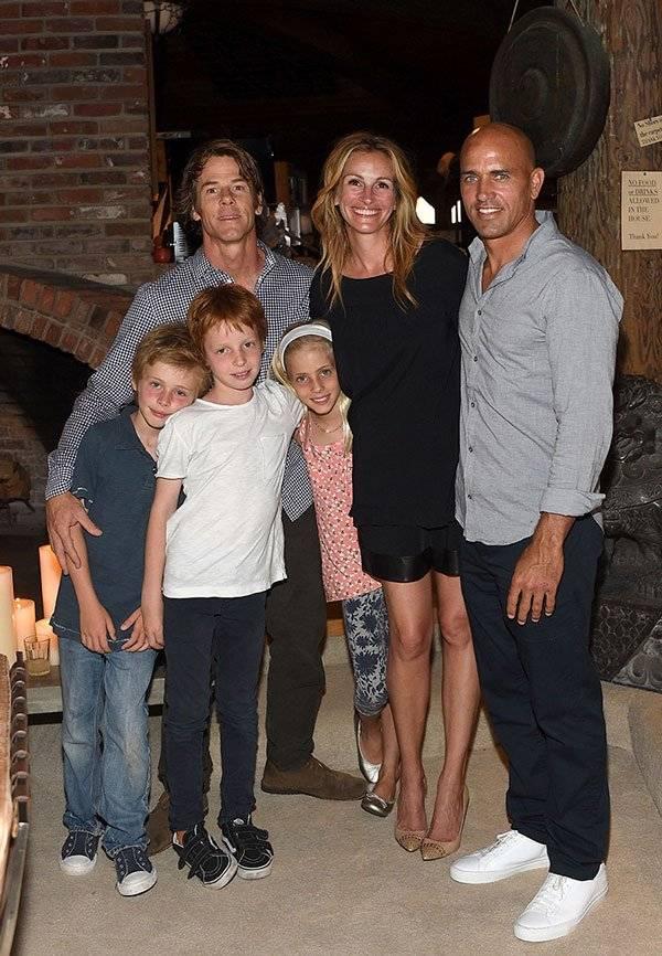 Julia Roberts y su familia