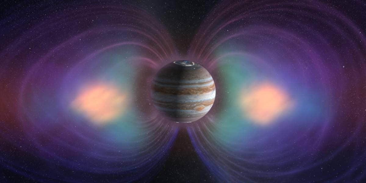 Imagen del campo magnético de Júpiter deja desconcertados a los científicos