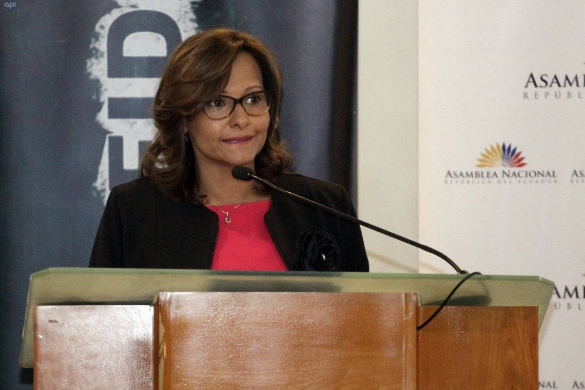 Elizabeth Cabezas, presidenta de la Asamblea Nacional API