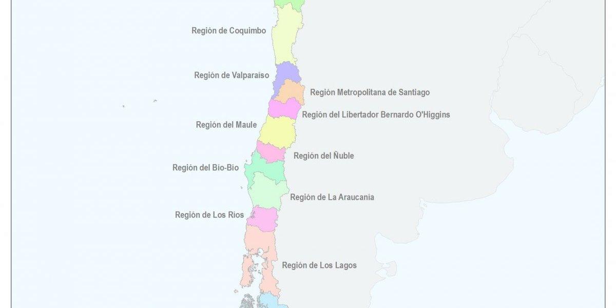 Así quedó el mapa de Chile con el nacimiento de la nueva Región de Ñuble