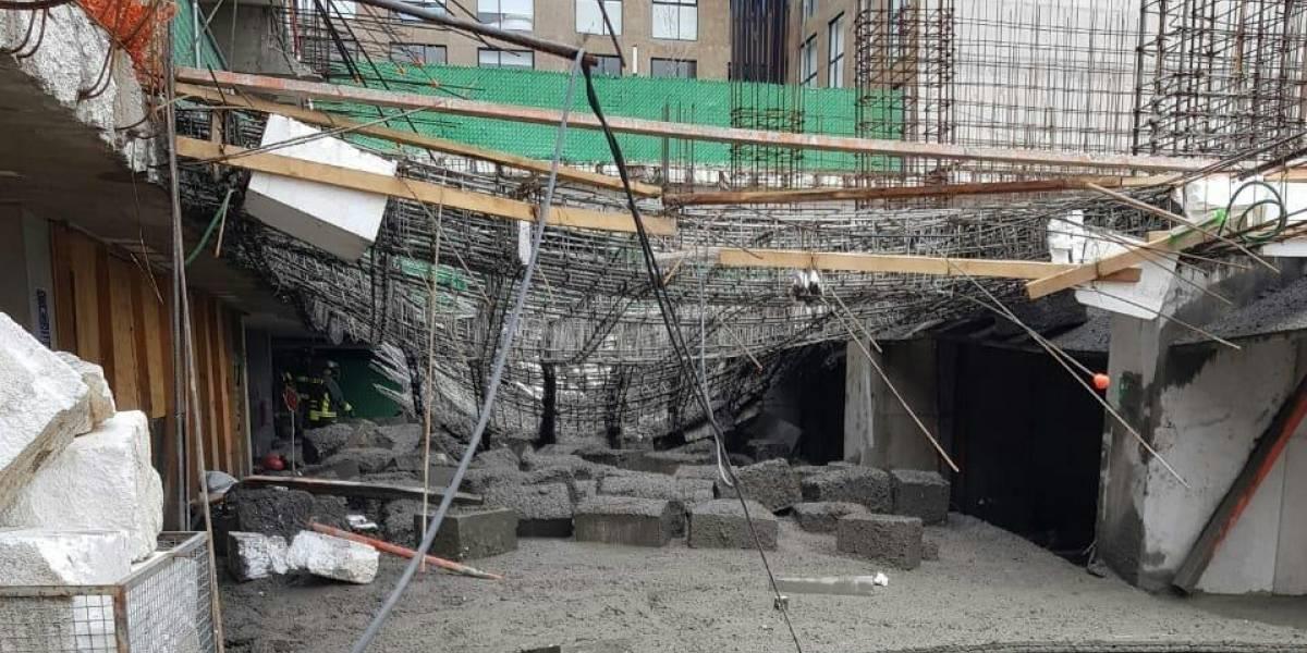 Muere albañil tras derrumbe de obra en MH