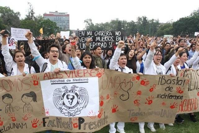 30 mil estudiantes marcharon en Ciudad Universitaria contra los porros. Foto: Nicolás Corte