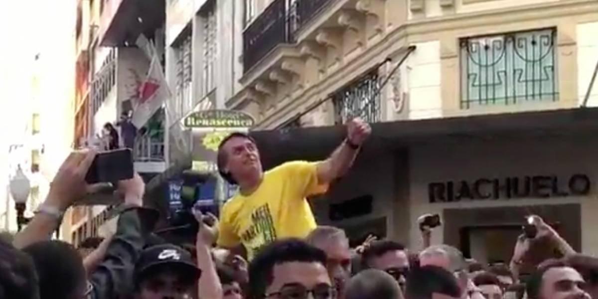 Apuñalan candidato presidencial de Brasil