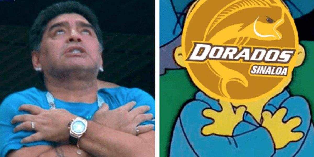 Los mejores memes de la llegada de Maradona a Dorados