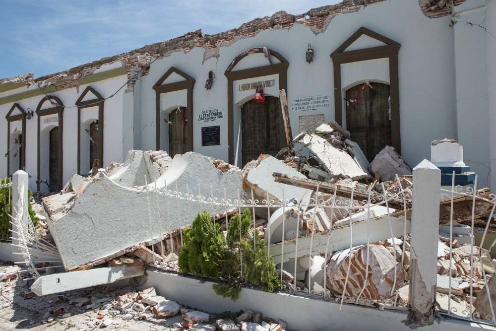 Afectaciones en Oaxaca tras el sismo del 7 de septiembre de 2017 Foto: Cuartoscuro