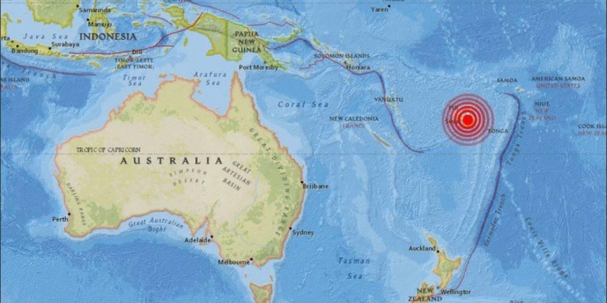 Terremoto de magnitud 8.1 en las islas de Fiji, sureste de Levuka
