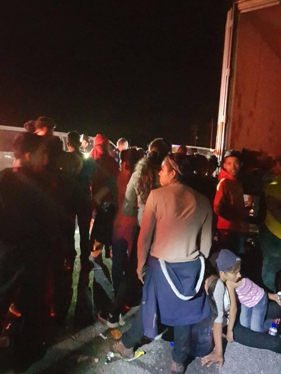 Los centroamericanos fueron llevados a un albergue. Foto: Especial/Gobierno de NL