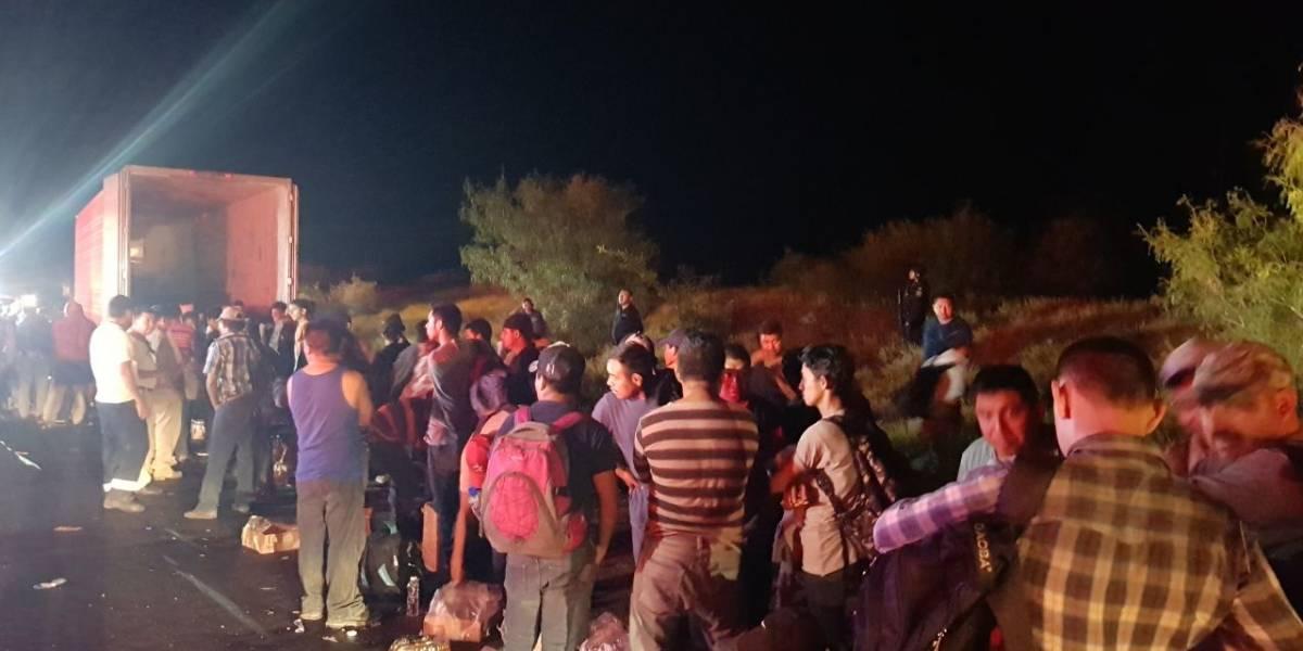 Rescatan a 119 migrantes centroamericanos en NL