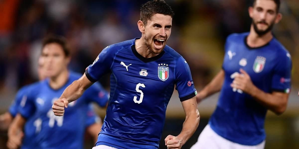 Jorginho salva a Italia de un papelón en su propia casa