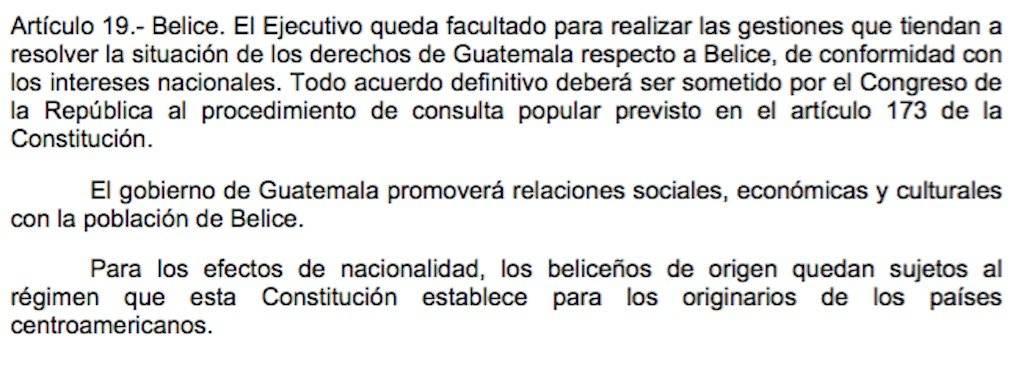 Artículo 19 transitorio de la Constitución Política de la República de Guatemala. Foto: Publinews
