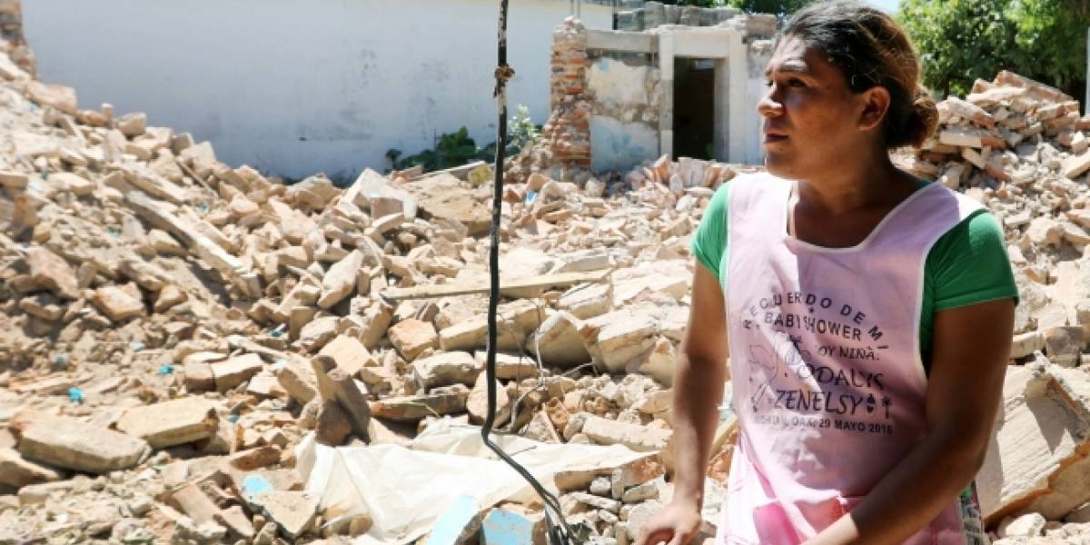 A un año del 7-S, siguen entre escombros pobladores de Chiapas y Oaxaca