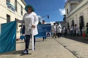 marcha de médicos en zona 1