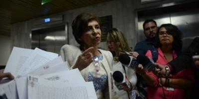 Nineth Montenegro presenta pruebas de descargo