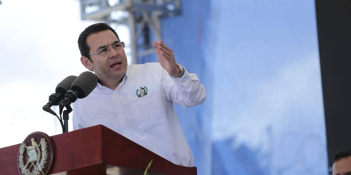"""Presidente: """"Por sobre todo, incluso por encima de mi familia, he defendido Guatemala"""""""