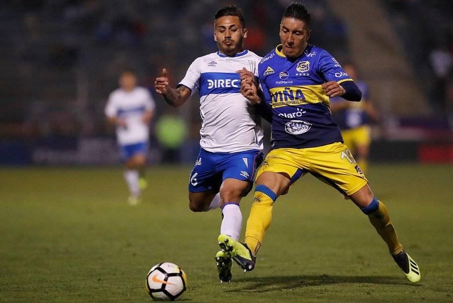 El último partido que jugó Marcos Bolados en la UC fue el triunfo 2-1 ante Everton en San Carlos (04/08) / Foto: Photosport