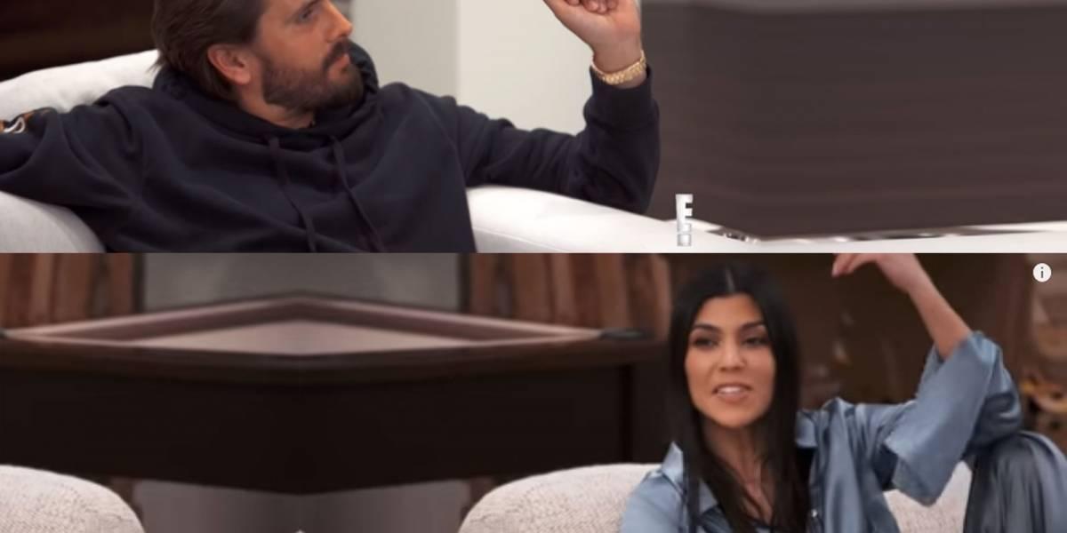 La tensa discusión de Kourtney Kardashian y Scott Disick que quedó grabada en cámara