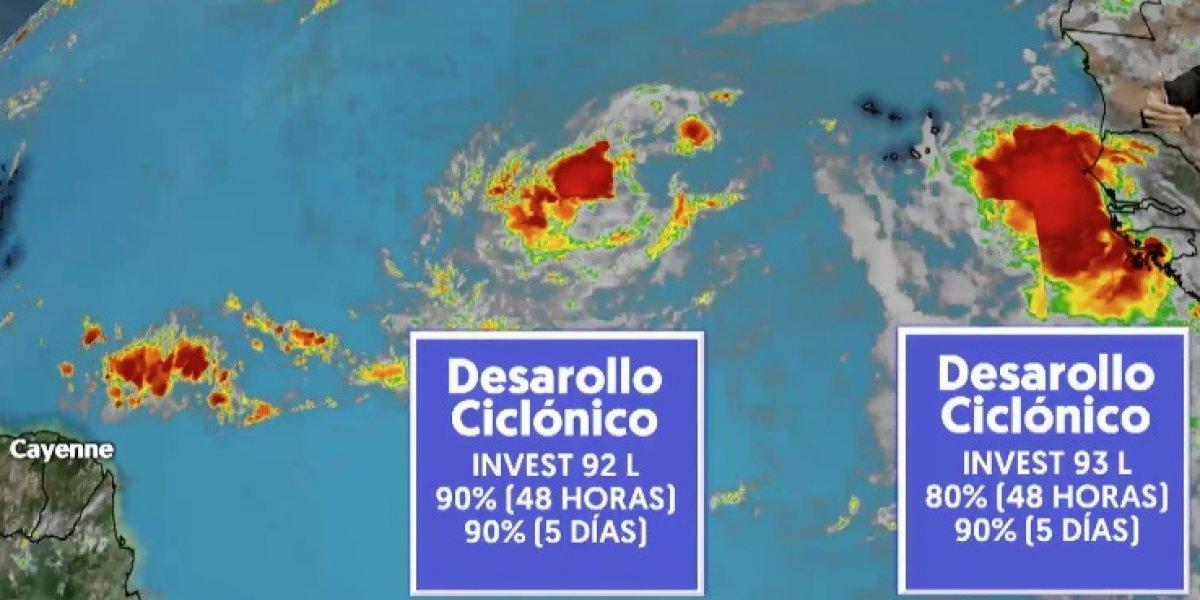 Dos ondas tropicales tienen alto potencial de desarrollo ciclónico