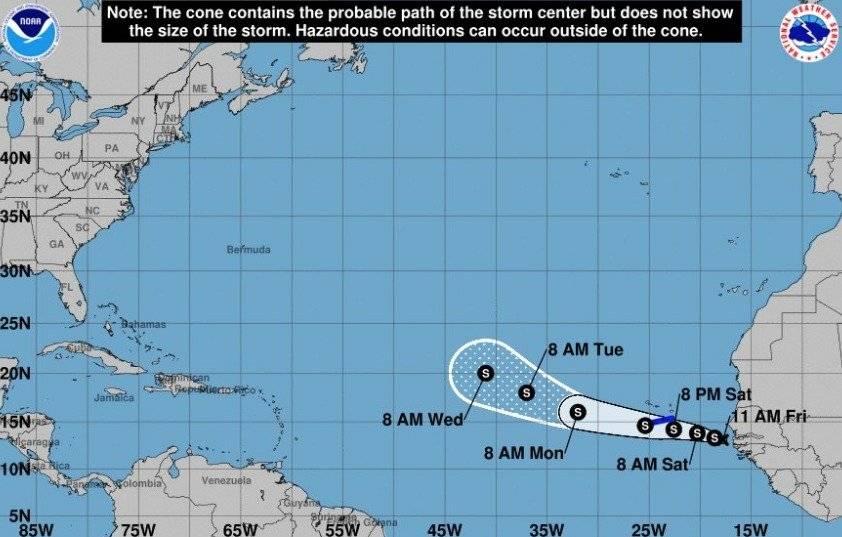 ciclón tropical potencial 8