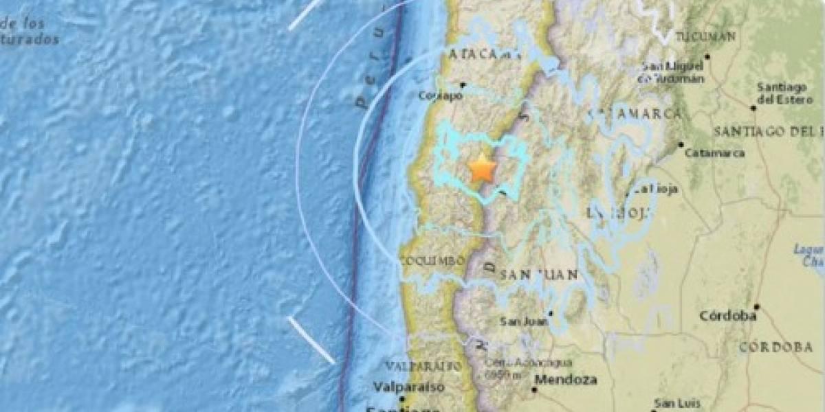 Chile: Sismo de 5,8 se registro en Atacama, Coquimbo y Valparaíso
