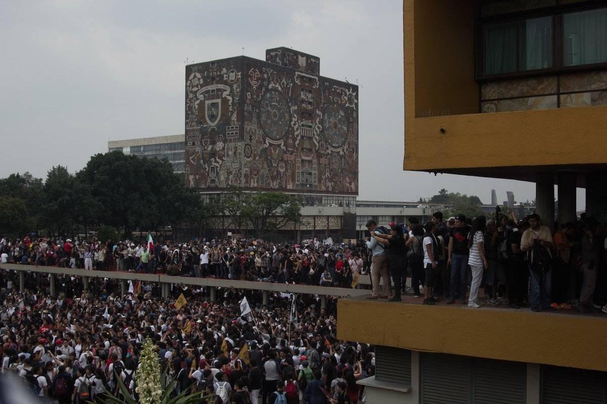Este viernes regresaron a clases 14 escuelas de la UNAM, tras un paro de 48 horas. Foto: Cuartoscuro